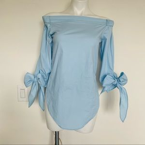 Long Sleeve S Off Shoulder Tops Strapless Blouse